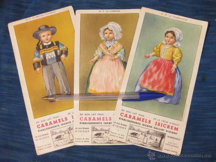 3 PAPEL SECANTE PUBLICITARIOS DE CARAMELOS ISICREM (Coleccionismo - Papel Secante)