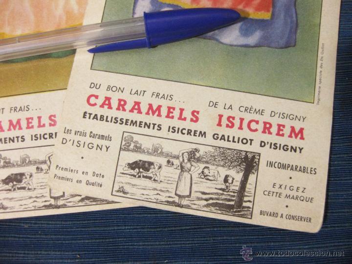 Coleccionismo Papel secante: 3 PAPEL SECANTE PUBLICITARIOS DE CARAMELOS ISICREM - Foto 2 - 51701426
