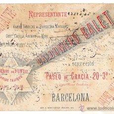 Coleccionismo Papel secante: PAPEL SECANTE BALDOMERO BALET. BARCELONA. CIRCA 1920. Lote 51733756