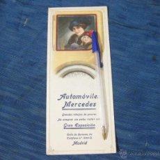 Coleccionismo Papel secante: PAPEL SECANTE DE PRINCIPIOS DE LOS AÑOS 20 O 30 CON PUBLICIDAD DE AUTOMOVILES MERCEDES. Lote 51793415