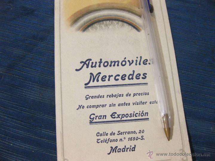 Coleccionismo Papel secante: PAPEL SECANTE DE PRINCIPIOS De LOS AñOS 20 O 30 CON PUBLICIDAD DE AUTOMOVILES MERCEDES - Foto 2 - 51793415