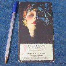 Coleccionismo Papel secante: PAPEL SECANTE PUBLICITARIO DEL REPRESENTANTE DE LA AGENCIA PUBLICITARIA BROWN AND BIGELOW. NEW YORK. Lote 51970704