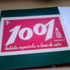 Coleccionismo Papel secante: PAPEL SECANTE DE ZARZAPARRILLA 1001. Lote 52341717