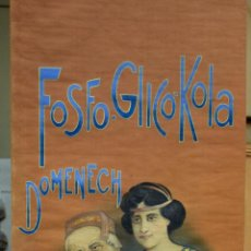 Coleccionismo Papel secante: CARTEL PUBLICIDAD TELA OLEO FOSFO GLICO KOLA DOMENECH FARMACIA MODERNISTA ART NOUVEAU BARCELONA (8. Lote 52409804