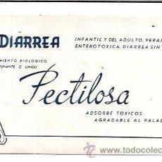 Coleccionismo Papel secante: SECANTE. TRATAMIENTO BIOLOGICO COADYUVANTE O UNICO. PECTILOSA. 9X15 CM.. Lote 53134439