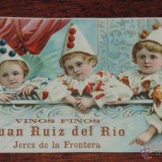 Coleccionismo Papel secante: PAPEL SECANTE AÑOS 20, VINOS FINOS JUAN RUIZ DEL RIO, JEREZ DE LA FRONTERA, VINO, MUJY GRANDE MIDE 2. Lote 53226954