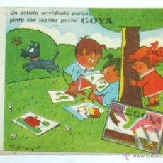 Coleccionismo Papel secante: PAPEL SECANTE GOYA, DIBUJO DE CONTI. Lote 53410348