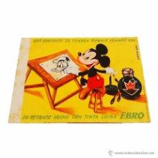Coleccionismo Papel secante: ANTIGUO PAPEL SECANTE EBRO MICKEY WALT DISNEY ORIGINAL. Lote 45838908