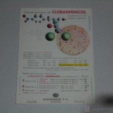Coleccionismo Papel secante: PAPEL SECANTE - CLORANFENICOL , BOEHRINGER SA. Lote 54352365