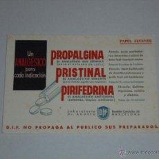 Coleccionismo Papel secante: PAPEL SECANTE - LABORATORIO DR ANDREU , BARCELONA. Lote 54370365