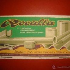 Coleccionismo Papel secante: ROCALLA. Lote 55053176