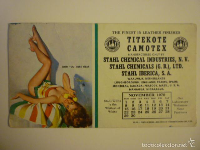 PAPEL SECANTE PUBLICIDAD STAHL CHEMICAL INDUSTRIES, N.V. U.S.A. (Coleccionismo - Papel Secante)