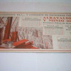 Coleccionismo Papel secante: ANTIGUO SECANTE.....AÑO..1.931. Lote 57163448