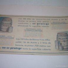Coleccionismo Papel secante: ANTIGUO SECANTE.....AÑO..1.933. Lote 57163471
