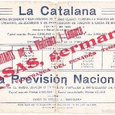 Coleccionismo Papel secante: T - PAPEL SECANTE LA CATALANA DORSO ALMANAQUE 1935. Lote 60828707