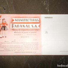 Coleccionismo Papel secante: PAPEL MANUFACTURAS RABANAL SA. Lote 63168992