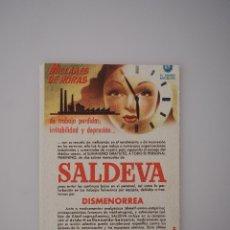 Coleccionismo Papel secante: PAPEL SECANTE ORIGINAL ANTIGUO SALDEVA, DISMENORREA, DOCTOR ANDREU. Lote 66297770