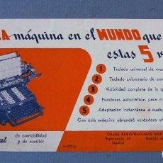 Coleccionismo Papel secante: PAPEL SECANTE PUBLICIDAD LA MAQUINA NATIONAL DE CONTABILIDAD, CAJAS REGISTRADORAS NATIONAL. Lote 66567174