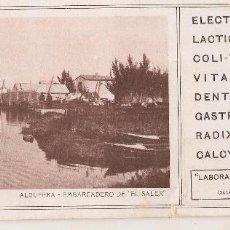 Coleccionismo Papel secante: VALENCIA. LABORATORIOS DEL ELECTROLACTIL. Lote 68160905