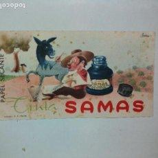Coleccionismo Papel secante: TINTA SAMAS - PAPEL SECANTE. Lote 68175985