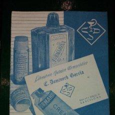 Coleccionismo Papel secante: FORMAHINA - LABORATORIO DE FARMACIA DOMENECH GARCIA - PAPEL SECANTE. Lote 68658853