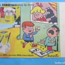 Coleccionismo Papel secante: SECANTE , CON EBRO SE BORRA LA TINTA , CONTI . Lote 71988939