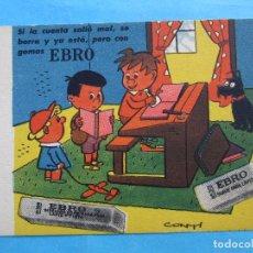 Coleccionismo Papel secante: SECANTE EBRO , CONTI. Lote 71991111