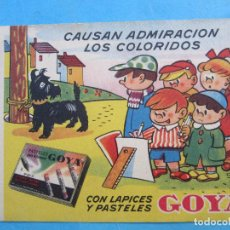 Coleccionismo Papel secante: SECANTE GOYA , CONTI. Lote 71996695