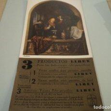 Coleccionismo Papel secante: PAPEL SECANTE,OBRA DEL PINTOR GERRIT DOU, EL MÉDICO - ANUNCIO DE VACUNA ANTITIFICA LIBET 24 X 12 CM. Lote 72340271