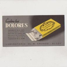 Coleccionismo Papel secante: PAPEL SECANTE - LABORATORIOS DR. M. AMORÓS / ALCOY. Lote 72695127