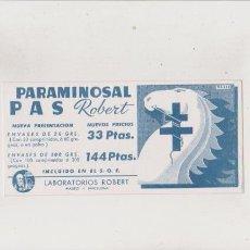 Coleccionismo Papel secante: PAPEL SECANTE - LABORATORIOS ROBERT - PARAMINOSAL. Lote 72695347