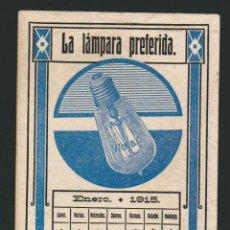 Coleccionismo Papel secante: SECANTE PUBLICITARIO.LÁMPARA WOTAN, SIEMENS-SCHUCKERT INDUSTRIA ELECTRICA S.A.AÑO 1915. Lote 74620419