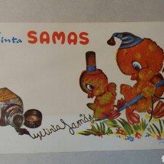 Coleccionismo Papel secante: PAPEL SECANTE TINTAS DAMAS.. Lote 75812170