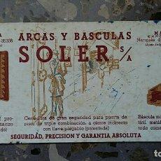 Coleccionismo Papel secante: PAPEL SECANTE. PUBLICIDAD ARCAS Y BASCULAS SOLER S A, BARCELONA VER FOTO. Lote 76524627