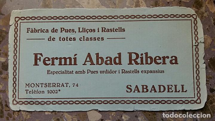 PAPEL SECANTE. PUBLICIDAD FERMI ABAD RIBERA SABADELL, VER FOTO (Coleccionismo - Papel Secante)