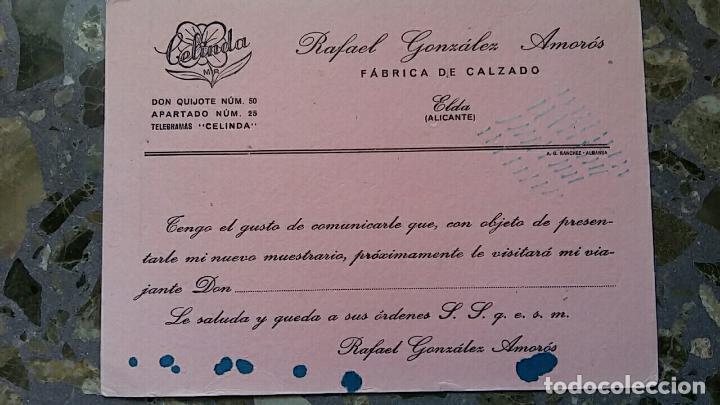 PAPEL SECANTE. PUBLICIDAD FABRICA DE CALZADO RAFAEL GONZALEZ AMOROS, ELDA ALICANTE, VER FOTO (Coleccionismo - Papel Secante)