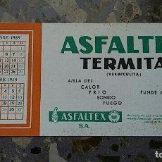 Coleccionismo Papel secante: PAPEL SECANTE. PUBLICIDAD ASFALTEX TERMITA, VER FOTO. Lote 76526147