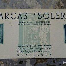 Coleccionismo Papel secante: PAPEL SECANTE. PUBLICIDAD ARCAS SOLER BARCELONA, VER FOTO. Lote 76526243