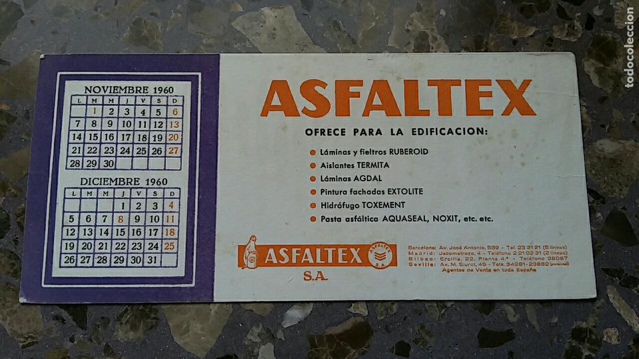 PAPEL SECANTE. PUBLICIDAD ASFALTEX, VER FOTO (Coleccionismo - Papel Secante)
