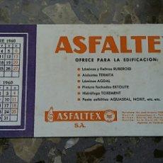 Coleccionismo Papel secante: PAPEL SECANTE. PUBLICIDAD ASFALTEX, VER FOTO. Lote 76526771