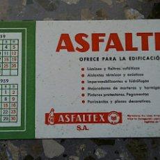 Coleccionismo Papel secante: PAPEL SECANTE. PUBLICIDAD ASFALTEX, VER FOTO. Lote 76526843