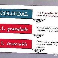 Coleccionismo Papel secante: PAPEL SECANTE. CALCIO COLOIDAL. LEVUCAL GRANULADO E INYECTABLE. PRODUCTOS LETI. Lote 77308057
