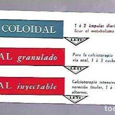 Coleccionismo Papel secante: PAPEL SECANTE. CALCIO COLOIDAL. LEVUCAL GRANULADO E INYECTABLE. PRODUCTOS LETI. Lote 77309001