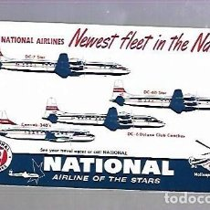 Coleccionismo Papel secante: PAPEL SECANTE. NATIONAL AIRLINES. NEWEST FLEET IN THE NATION!. AIRLINE OF THE STARS. Lote 77312585