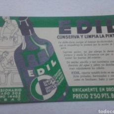 Coleccionismo Papel secante: EDIL, BILBAO AÑOS 50. SECANTE.. Lote 78337435