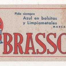 Coleccionismo Papel secante: (ALB-TC-6) PAPEL SECANTE BRASSO. Lote 78518169