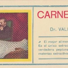 Coleccionismo Papel secante: PAPEL SECANTE CON PUBLICIDAD DE CARNE LÍQUIDA DEL DOCTOR VALDÉS GARCÍA. NUEVO, SIN USO. . Lote 81823612