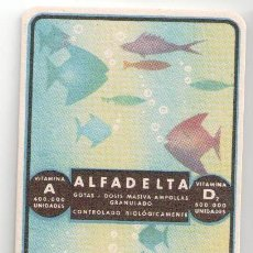 Coleccionismo Papel secante: PAPEL SECANTE, PUBLICIDAD FARMACIA, ALFADELTA. . Lote 85310940