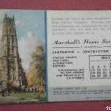 Coleccionismo Papel secante: PAPEL SECANTE IGLESIA EN NEW YORK 1946 PUBLICIDAD DE MARSHALL CONSTRUCCIÓN. Lote 89429936