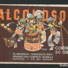 Coleccionismo Papel secante: ALCOHOSOL.LABAORATORIOS HEBOS.MADRID.INFERNILLO DE ALCOHOL.PAPEL SECANTE PUBLICITARIO.. Lote 91234670